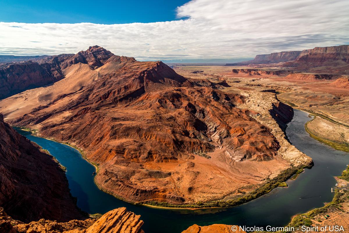 Vue sur le Colorado du sommet de Spencer Trail, Arizona