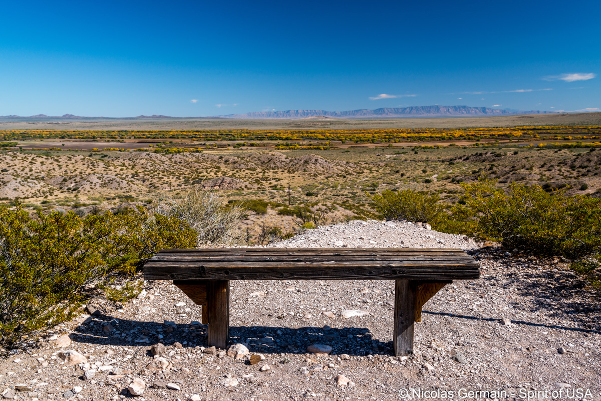 Vue sur Bosque Del Apache du sentier de Canyon National Trail