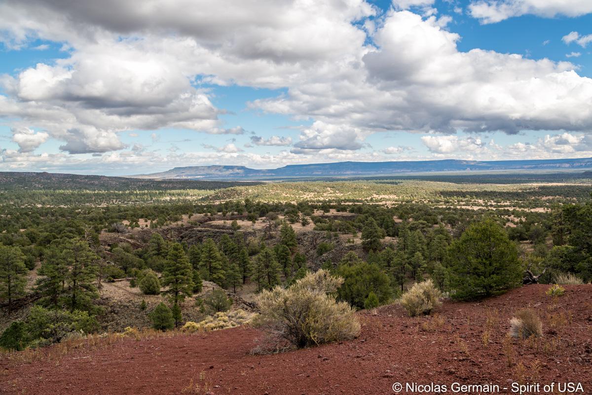 Plaines et mesas vues du sentier El Calderon Trail, El Malpais