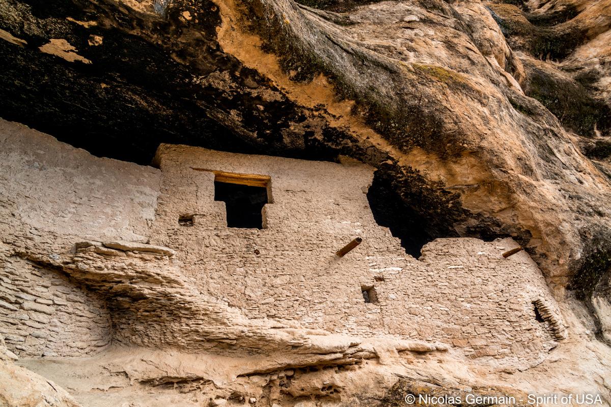 Une ruine de Gila Cliffs Dwelling, Nouveau-Mexique