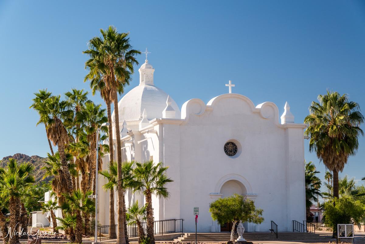Eglise catholique dans le quartier historique d'Ajo, Arizona