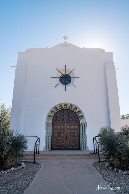Eglise méthodiste dans le quartier historique d'Ajo, Arizona