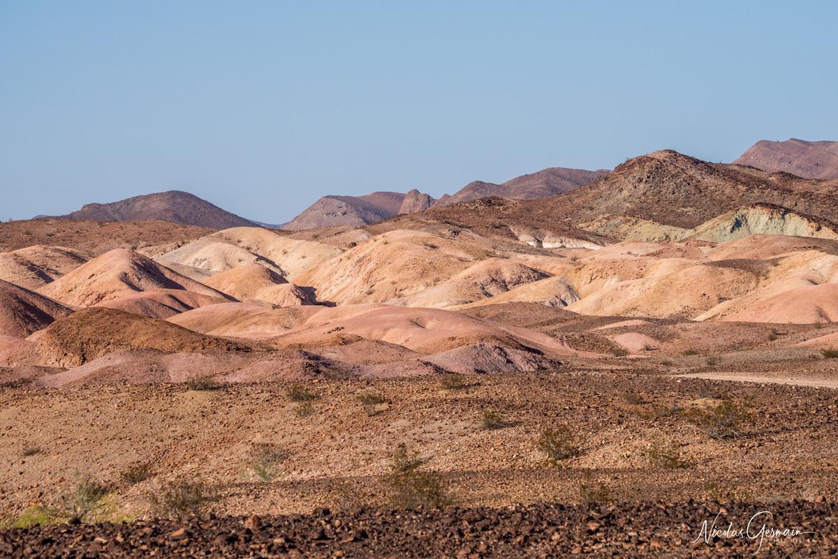 Collines de Painted Desert à Imperial National Wildlife Refuge