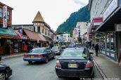 Rue principale et commerçante South Franklin Street à Juneau, Alaska