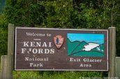 Panneau d'entrée à Kenai Fjords National Park, Alaska