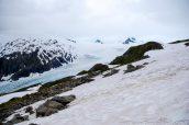 Presque arrivés en haut du sentier Harding Icefield Trail et ses vues sur Exit Glacier, Alaska