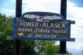Panneau de bienvenue à Homer, Alaska