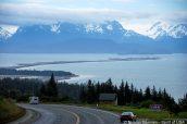 Baie Kachemak vue d'une route vers Homer, péninsule Kenai
