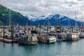 Port de Seward sur la péninsule Kenai, Alaska