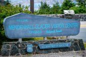 Panneau d'entrée de Mendenhall Glacier, Juneau, Alaska