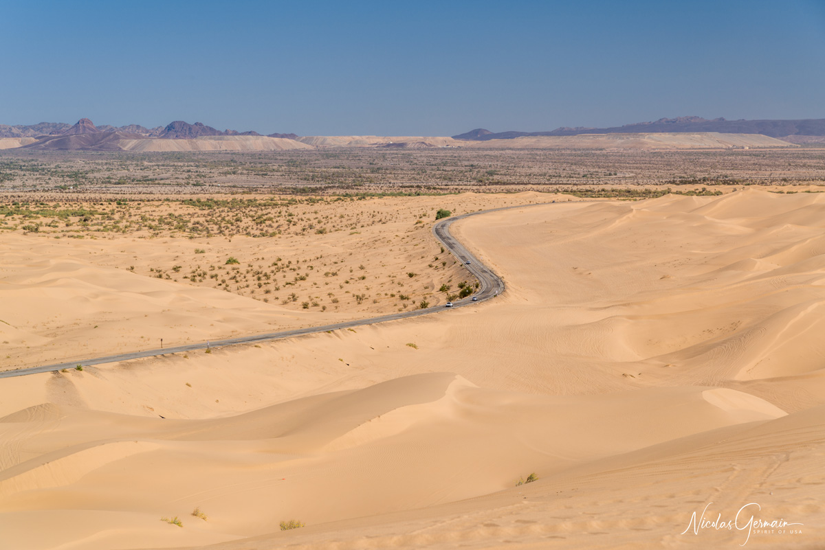 Dunes de North Algodones près de Glamis, dans le sud-est de la Californie