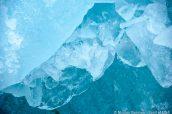 Détail de la glace en train de fondre près de Sawyer Glacier