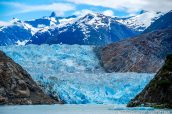 Vue sur Sawyer Glacier au bout de Tracy Arm, Alaska