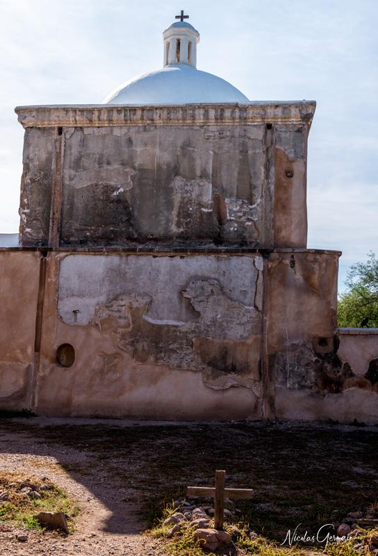 Arrière de la Mission San Jose de Tumacacori où se situe le cimetière