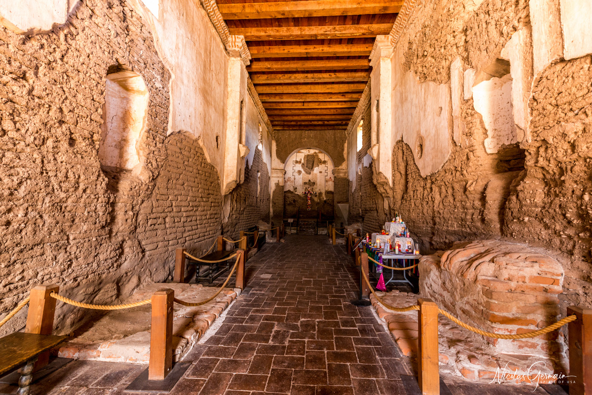 Vue intérieure de la Mission San Jose de Tumacacori