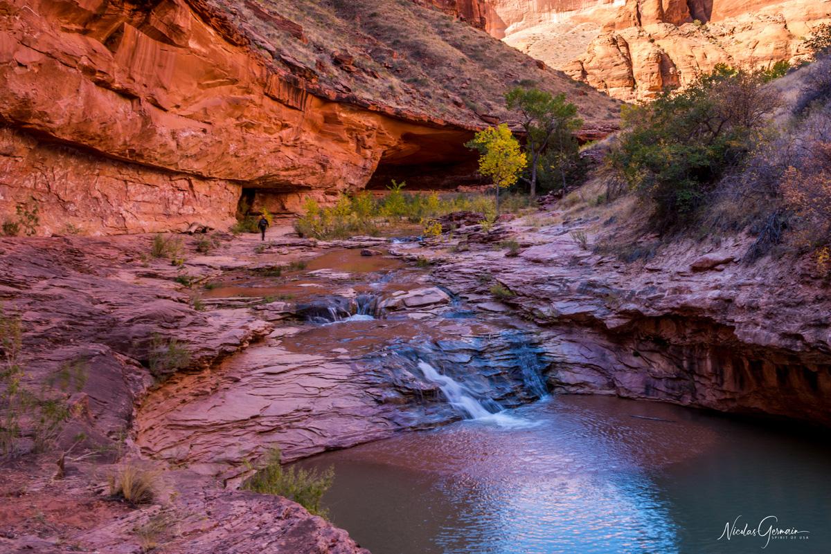 Première cascade de Coyote Gulch