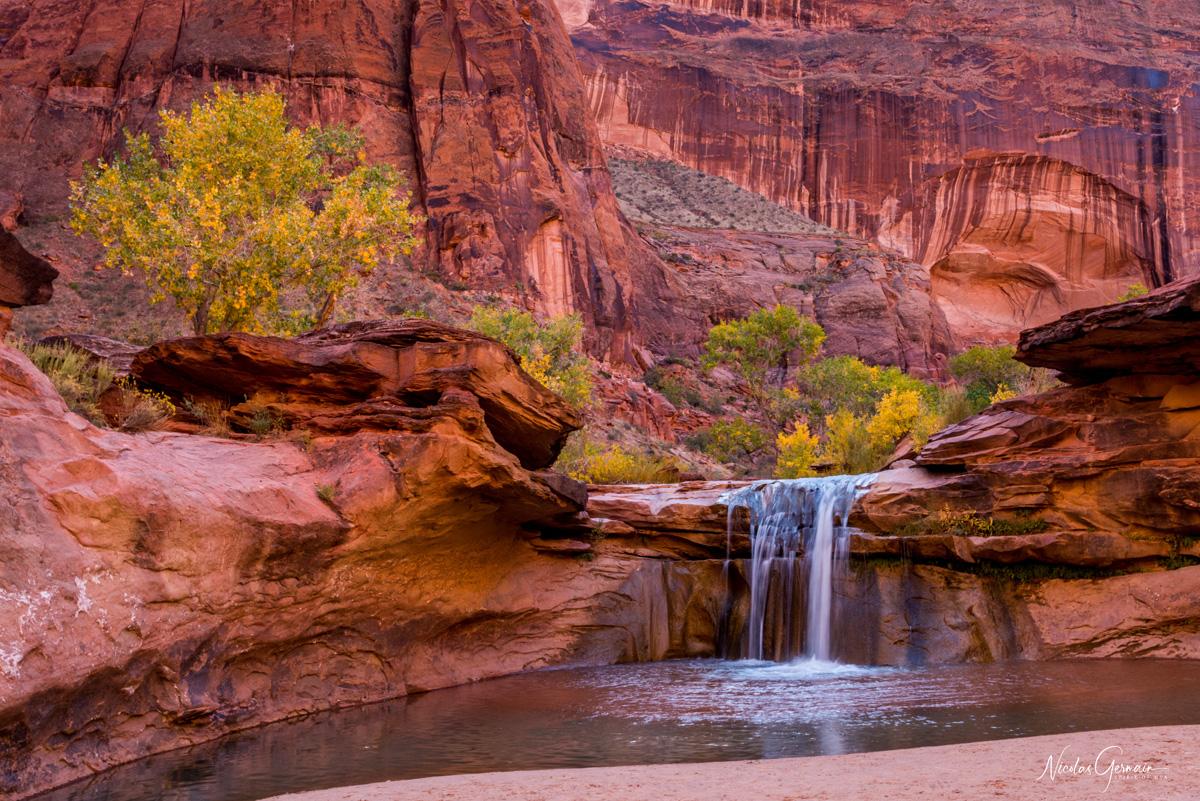 Troisième cascade de Coyote Gulch, située juste après la deuxième