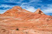 Paysage coloré et caractéristique de Yant Flat, Utah