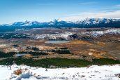 Panorama du sommet de Busen Peak près de Mammoth Hot Springs, Yellowstone National Park