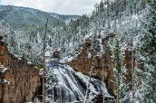 Firehole Falls, dans la partie ouest de Yellowstone National Park