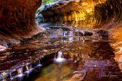 Petites cascades à l'entrée du Subway, Zion National Park