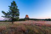 Coucher de soleil sur Devils Tower à Joyne Ridge Trail