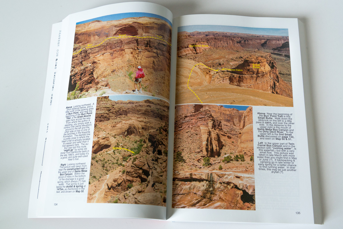 Exemple de pages avec photos de Hiking Guide to the Colorado Plateau