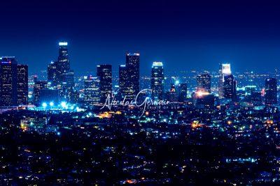 Los Angeles Downtown by night (panoramique) - Nicolas Germain, Spirit of USA
