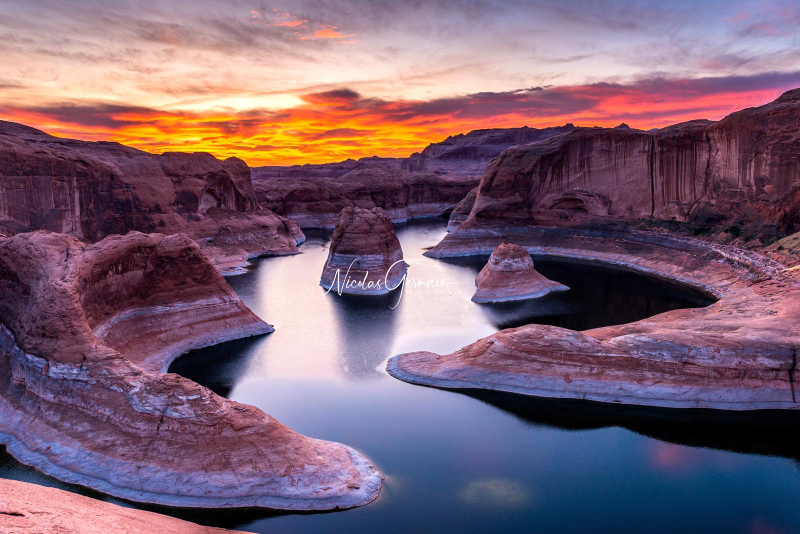 Reflection Canyon Sunrise - Nicolas Germain, Spirit of USA