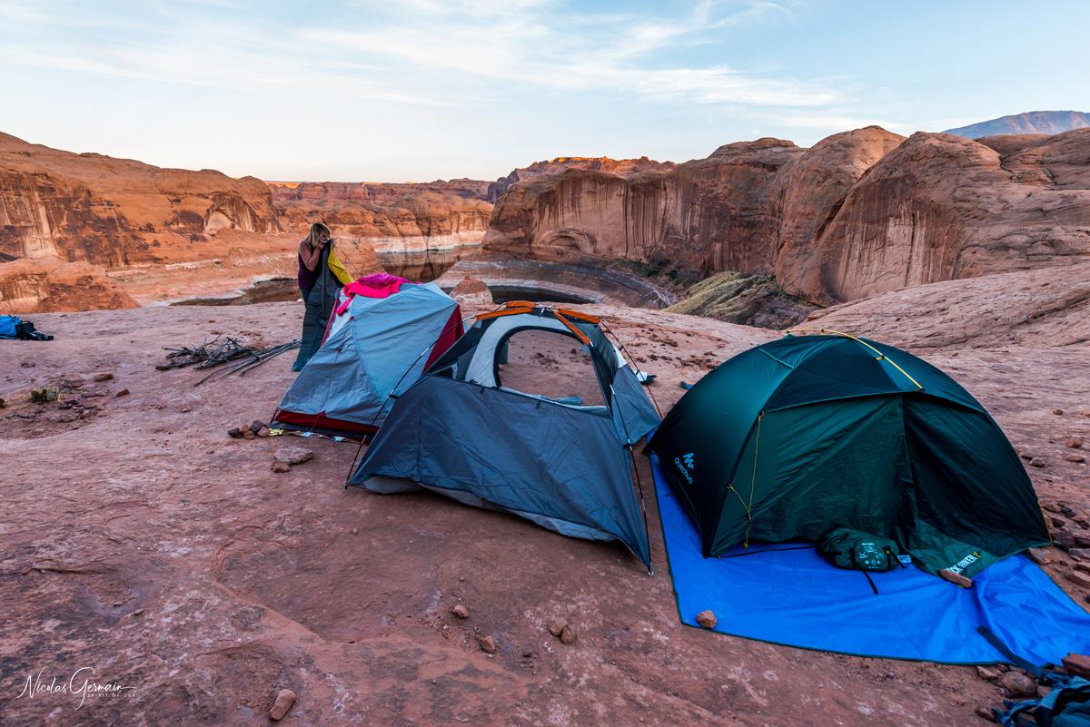 Les tentes sont particulièrement bien placées !