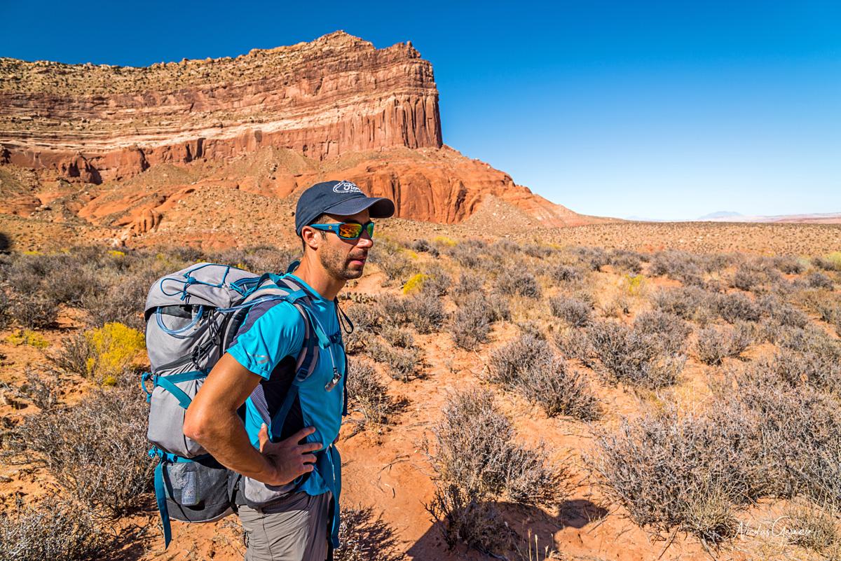 Jérôme lors du chemin allant vers Reflection Canyon